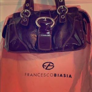 Francesco Biasia Leather Shoulder Bag Purse